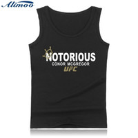 Wholesale Bodybuilding Clothing Women - Wholesale- Alimoo xxs-4xl men  women conor mcgregor tank top short sleeveless bodybuilding tank clothing fitness clothes DETHRONE