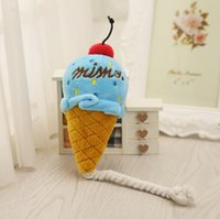 Wholesale making toys sound for sale - Pet Toys Exquisite Ice Cream High quality Make a sound Plush Squeak Toy For Dog Cat Pink Blue gg F R