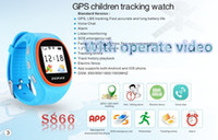 Wholesale Dial Online - Wholesale- Cute Kid watch ZGPAX Kid Wrist Smart Watch S866 With SOS GPS LBS track online Child montre intelligente S866 Watch For Kid gifts