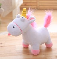 Wholesale Small Gift Girls - 2017 Unicorn Short Stuffed Plush animal Toys 35cm Small goat plush toys Christmas Gifts for Baby Girls