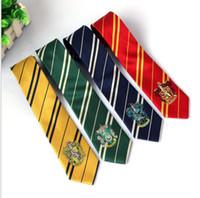 liens de poudlard achat en gros de-Harry Potter Cravates Vêtements Accessoires Cravate Borboleta Cravate Ravenclaw Poufsouffle Coussin Poudlard Rayures 4 KKA2072