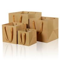 ingrosso avvolgere la pubblicità-Sacchetto di carta marrone XS Sacchetto di carta da regalo più grande di forma quadrata Imballaggio generale di gioielli di pubblicità all'ingrosso