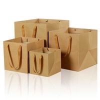 Wholesale Paper Advertising - XS Brown Paper Bag More Size Flowers Square Bottom Gift Bag General Advertising Jewelry Packaging Wholesale