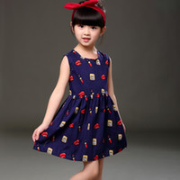 Wholesale Country Clothes Wholesale - Baby Kids Clothing Girls' Dresses Spring Autumn Kids Princess Cotton Summer Country Style Bohemian Sleeveless Tutu dress Party Dresses #X001