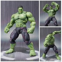 Wholesale Movable Dolls Christmas - 22cm the avengers super hero hulk movable action figure toys Christmas gift doll