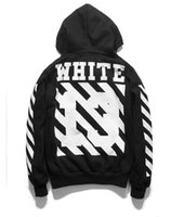Wholesale Painted Jacket Leather - OFF WHITE 13 mens pullover stripe offset hoodies fleece Sweatshirts brand HBA Vision religion painting VIRGIL ABLOH leather jacket