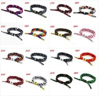 Wholesale Couple Bracelet Gift Set - New 52 Color California Rastaclat Braiding Lion Galaxy Shoelace Bracelets Wristband Adjustable Ties 100% POLYESTER Couples Sport Bracelet