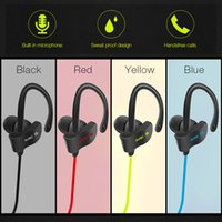 Wholesale Ear Hook Earphones Mic - 56S Wireless Bluetooth Earphones Waterproof Headphones Stereo Bass Headset Sport Earpieces Ear Hook Earbuds With Mic for note8 iphone8 7