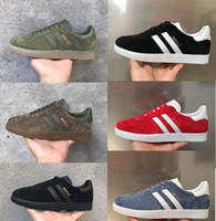 Wholesale Racer Rc - 2017 New high quality SUEDE gazelle men women casual shoes black white gold green RACER M90 AIR ONE 2018 mens womens outdoor shoes 36-45 RC