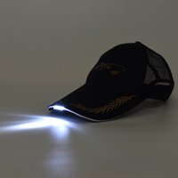 Wholesale Outdoor Lighted Fishing Cap Hat Lightweight LED Light Baseball Hat with Breathable Mesh Net Night Fishing Camping Hiking Walking Y2903