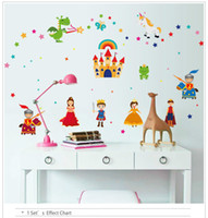 Wholesale Self Adhesive Wall Time - 2016 Time-limited Rushed Decal Estrella Fairy Tales Wall Stickers Wallpaper Home Decor Art Kids' Room Decoration free Shipping