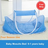 Wholesale Mongolia Mosquito Nets - Wholesale- 2017 Rushed Baby Mosquito Net Cover Mongolia With Support Package For Children With Portable Folding Encryption Free Installat