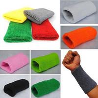 Wholesale sweat bands resale online - New Sports Basketball Unisex Cotton Sweat Band Sweatband Wristband Wrist Band