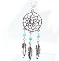 Wholesale Turquoise Jewelry For Girls - 4 Styles Maxi Necklace Fashion Hot Pendant Necklaces Alloy Dream Catcher Girl Necklace for Women Statement Necklace Jewelry