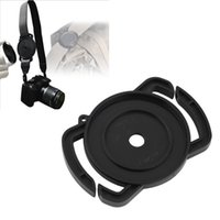 Wholesale Camera Cap Buckle Holder - Wholesale-New ABS Camera Lens Cap Holder Buckle Safety Keeper Anti-lost for 40.5mm 49mm 62mm Wholesale
