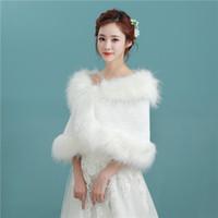 ingrosso pelo senza maniche bolero-Nuovo Arriva Sleeveless Faux Fur Wedding Wraps Elegante da sposa Bolero per Wedding Party P032
