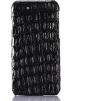 cuir véritable iphone achat en gros de-Cas de téléphone de luxe en cuir véritable pour iPhone 7 Plus 3D Motif de la peau de crocodile 6 6S Plus Slim Couverture Mobile Téléphone cas