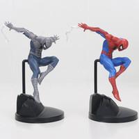 Wholesale Amazing Spiderman 11 - 18cm Amazing Spiderman creator Action Figure black Spider Man PVC Action Figure Collectible Model Toy Gift