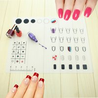 Wholesale Stamping Mats - Nail Art Manicure Silicone Mat For Stamping Reverse Stamp Transfer Water Marble Practice Workspace Design Plate Table Cover Pad