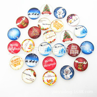 Wholesale Glass Diamond Buttons - 18mm Snap for Bracelet Necklace DIY Findings Glass Snap Buttons Jewelry SnowMan Christmas Design noosa