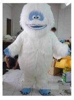 Wholesale Snow White Mascots - 2017new White Snow Monster Mascot Costume Adult Abominable Snowman Monster Mascotte Outfit Suit Fancy Dress EMS free shipping