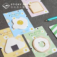 Vente en gros - Kawaii Breakfast Papeterie créative N Post Office Accessoires Sticky School Supplies Notes Memo Pad