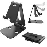 Wholesale aluminum cases for sale online – custom Hot Sale Desktop Holder Mobile Phone Aluminum Stand for IPhone Ipad Samsung Convenient Silicagel Pads