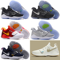 Wholesale New Arrival Winter - 2017 New Arrival Paul George PG1 Ferocity Glacier Grey Shining Men's Basketball Shoes PG 1 Top quality Sports SHOES