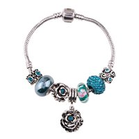 Wholesale Crystal Clay For Sale - T01AP Bohemian Vintage Blue Crystal Rhinestone Love Bracelets For Women Christmas Gift 2017 Hot Sale Ceramic Beaded Bracelet Magnetic Clasp