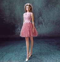 Wholesale Super Plus Size Wedding Gowns - New Arrival Hot Sale Fashion Luxury Princess Fairy Super Vintage Ruffle Pink Lace Deep V Neck Backless Annual Dinner Bridal Wedding Dress
