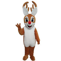 Wholesale Costume Moose - OISK Quality Cartoon Lovely Bambi Deer Moose Mascot Costume Adult Kid Plush for Halloween Chirstmas Play and Party