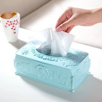 Wholesale Cartridge Paper Wholesale - Wholesale- Desktop Rose carved tissue box pumping tray Household plastic storage box paper napkin living room pumping cartridge