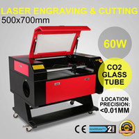 Wholesale Co2 Laser Engraving Cutting Machine - 60W CO2 USB Laser Engraving Cutting Machine Engraver Cutter woodworking crafts acrylic fiber wood Engraving Machine