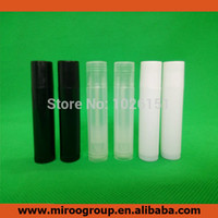 Wholesale Lipstick Containers - NEW 2015 50PCS Empty Plastic Clear Lip Balm Tubes Containers Transparent Lipstick Fashion Cool Lip Tubes Free Shipping(3 colors)