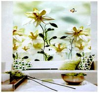 Wholesale Build Sun Shade - Wholesale-Free Shipping! BLACKOUT THERMAL WINDOW LOVELY FLOWERS PATTERNED ROLLER BLIND SHADE BLOCK SUN 120W X 200 H DROP