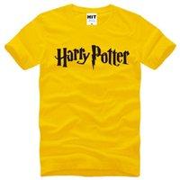 Wholesale Men S Fashion Shirts - New Summer HARRY POTTER T Shirts Men Cotton Short Sleeve O-neck Letter Printed Men's T-Shirt Fashion Moive Funs Top Tees S-XXXL