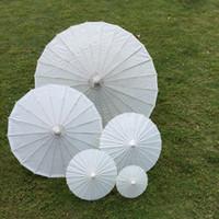 Wholesale Chinese Paper Umbrellas Wholesale - bridal wedding parasols White mini paper umbrellas Chinese mini craft umbrella 4 Diameter:20,30,40,60cm wedding favor decoration