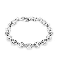 meilleure chaîne en or pour les femmes achat en gros de-Meilleur qualité Charme 925 en argent sterling plaqué mignon femmes hommes mode Noble chaîne Bracelet bijoux peut adapter pendentif bijoux