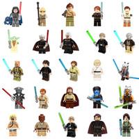 Wholesale Master Collection - 25pcs lot Star Wars Jedi Collection Figures Yoda Anakin Luke Skywalker Windu Obi-wan Kenobi Minifig Jedi Master Mini Building Block Figures