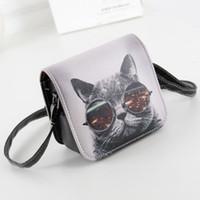 Wholesale Bolsos 3d - Wholesale- New Desinger Women Messenger Bags 3D Printing Shoulder Bag Kawaii Cat Travel for Girls bolsos Hobo Beach Bag Crossbody W1