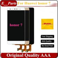 huawei honor livraison gratuite achat en gros de-Pour Huawei Honor 7 LCD + Écran Tactile 100% Nouveau Digitizer Panneau En Verre Pour Huawei Honor 7 1920x1080 5.2 '' Téléphone Livraison gratuite
