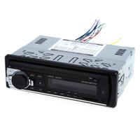 reproductor de mp3 12v auto al por mayor-12 V Bluetooth Car Radio Auto Audio Estéreo En el tablero 1 Din FM Receptor Receptor de entrada auxiliar USB MP3 MMC WMA Radio reproductor para vehículo