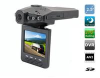 top nachtsicht großhandel-10 STÜCKE meistverkaufte 2,5 '' Car Dash cams Auto DVR recorder kamerasystem black box H198 nachtversion Video Recorder dash Kamera