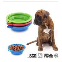 Wholesale Portable Silicone Collapsible Dog Bowl Cat Puppy Pet Feeding Travel Bowl Easy Carry Pet Feed Bowl Feeder