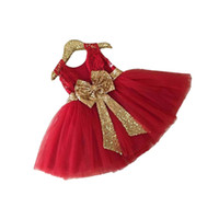 Wholesale cute baby girl tutu dress fashion bowtie princess mini dress for years girls kids children princess vestido Summer clothes