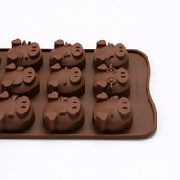 Wholesale Pig Soap Mold - Kitchen Accessories Baking Silicone Mold Pig Chocolate Moulds Wholesale Party Decoration Candle Soap Molds Cake Tools Supplies Free Shipping