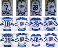 Wholesale Orange Falcon - 2017 AHL Springfield Falcons 18 Colin McDonald 28 Glenn Fisher Mens Womens Kids 100% Embroidery Custom Ice Hockey Jerseys Goalit Cut Hot