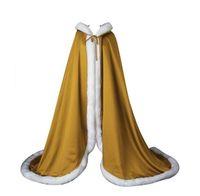 mavi elbise için bolero toptan satış-Beyaz / Fildişi / Pembe / Kırmızı / Mor / Gri / Kraliyet Mavi Gelin Pelerinler Şal Düğün kürk Bolero Kış Düğün Ceket Akşam Elbise Bolero sıcak kış 2017