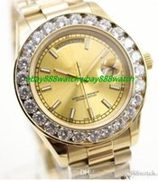 Mode Luxus Herrenuhr AAA Big Diamond Gold Gesicht Full Edelstahl Original Strap Automatikwerk Herrenuhren