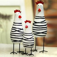 Wholesale Antique Carved Wooden - Three Chicken Wooden Ornaments A Set Of Ornaments The Explosion Of Creative Carved Home Furnishing Garden Decor Inexpensive Home Decor